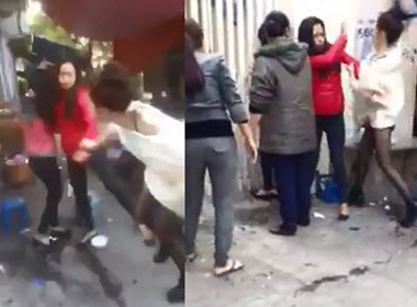 Vợ 'hot girl' đánh người tình 17 tuổi của chồng tơi bời