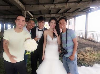 Hé lộ hậu trường chụp ảnh cưới của Công Vinh - Thủy Tiên