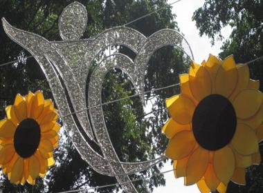 'Nghi án' logo trang trí đường phố tết tại TP.HCM đạo ý tưởng