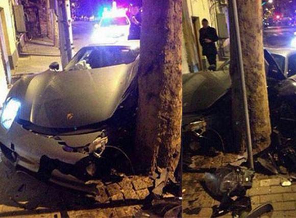 Nữ tài xế lái Porsche 918 Spyder 50 tỷ đồng mượn của bạn đâm vào gốc cây