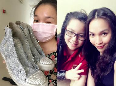 Hiền Thục tự tay làm giày tặng con gái ngày giáng sinh