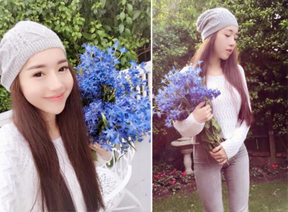 Elly Trần trẻ trung, ngây thơ như thiếu nữ đôi mươi trong vườn