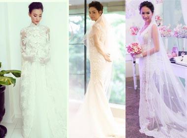 Những bộ váy cưới được làm từ ren cao cấp của sao Việt