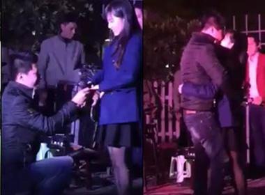 Clip tỏ tình cầu hôn đêm Noel ở Hà Nội lay động dân mạng