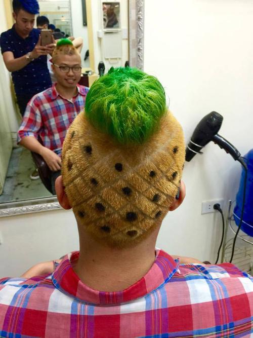 """Những kiểu tóc """"không giống ai"""" của giới trẻ Việt - 1"""