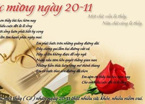 Ngày Nhà giáo Việt Nam 20/11: Những bài thơ hay và ý nghĩa