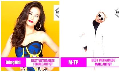 Nối tiếp Mỹ Tâm, Đông Nhi cùng Sơn Tùng M-TP được vinh danh tại giải thưởng âm nhạc quốc tế