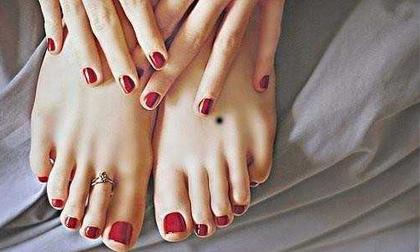 Theo nhân tướng học, nốt ruồi trên bàn chân cũng có thể nói lên số phận giàu nghèo của mỗi người