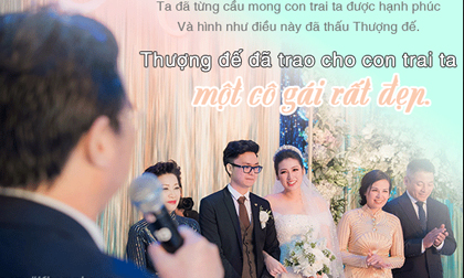 Xúc động lời mẹ chồng, bố chồng sao Việt dặn dò khiến con dâu bật khóc ngày về chung nhà