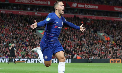 Hazard solo đẳng cấp, Chelsea ngược dòng hạ Liverpool tại Anfield
