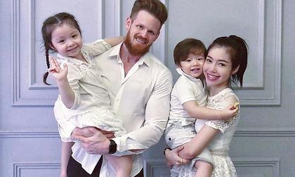 Lộ diện danh tính bố đẻ của 2 thiên thần nhà Elly Trần, phong độ chẳng kém gì tài tử Hollywood