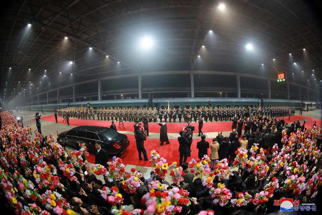 Ông Kim Jong Un đã về tới Bình Nhưỡng