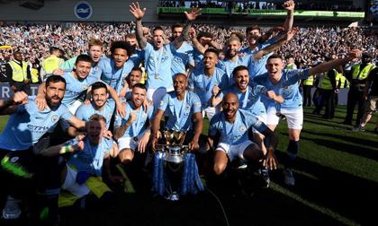 Thắng tưng bừng, Man City vô địch Ngoại hạng Anh 2018/19