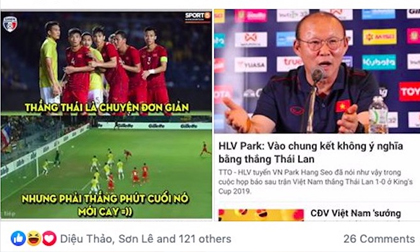 Dân mạng nghĩ gì khi Việt Nam hạ Thái Lan ngay trên sân của người Thái