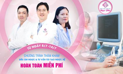 """Bệnh viện Thẩm mỹ Ngọc Phú thực hiện chương trình """"Siêu âm và thăm khám ngực miễn phí"""""""