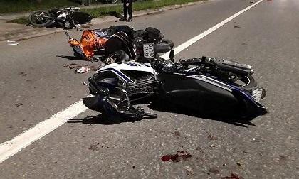 4 công nhân nguy kịch sau tai nạn xe máy liên hoàn