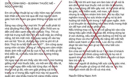Hà Nội: Thực hư thông tin dùng Ketamin làm thuốc mê để cướp tài sản