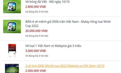 Vé trận Việt Nam - Malaysia đã lên chợ đen, giá gấp 5 lần
