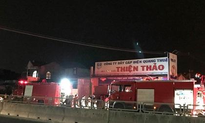 Cháy lớn cửa hàng thiết bị điện ở Bình Thuận