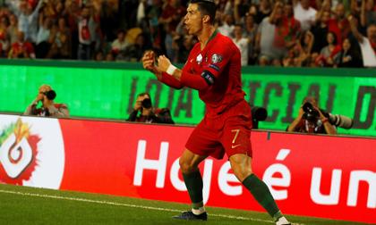Ronaldo ghi bàn giúp Bồ Đào Nha thắng đậm ở VL Euro 2020