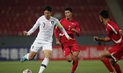 Hàn Quốc và Triều Tiên bất phân thắng bại trong trận cầu lịch sử