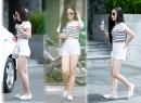 Hương Tràm ăn mặc trẻ trung xuất hiện trên phố sau scandal