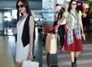 Dàn chân dài Việt khoe gu thời trang nổi bật ở sân bay