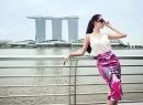 Tiết lộ hậu trường chụp ảnh đẹp long lanh của Ngọc Trinh ở Singapore