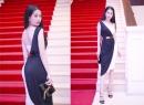 Ngọc Trinh khoe dáng chuẩn với váy gam màu trắng đen