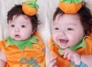 Con gái Elly Trần siêu cấp đáng yêu trong bộ đồ bí ngô Halloween