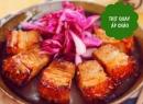 Thịt heo quay áp chảo, canh kim chi hấp dẫn bữa chiều