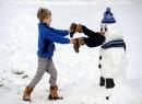 Những tạo hình nhí nhảnh của người tuyết