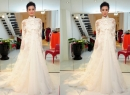 Cận cảnh chiếc váy cưới được thiết kế riêng của Lê Thúy