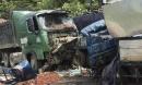 Xe tải chở mận đâm xe đầu kéo, 2 người chết tại chỗ