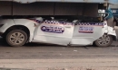 Tai nạn liên hoàn trên cầu Thanh Trì, xe taxi nằm gọn dưới gầm xe tải