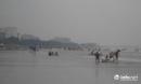 Thanh Hóa: Mặc trời mưa, sóng lớn, du khách vẫn tắm kín biển Sầm Sơn
