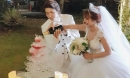 Cô dâu Khởi My liên tục thay 2 chiếc váy xa hoa trong đám cưới đẹp như cổ tích