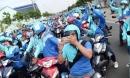 Hàng trăm tài xế tập trung diễu hành khắp đường phố Sài Gòn trong ngày Uber bị xóa sổ