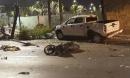 Ô tô điên tông một loạt xe máy dừng chờ đèn đỏ ngay trung tâm Quận 1, nhiều người thương vong