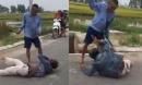 Người đàn ông trộm xe máy bị dân vây bắt, dùng dao quắm đánh liên tiếp vào tay chân chấn thương nặng