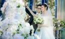 Khoảnh khắc đẹp của Á hậu Tú Anh và chú rể trong lễ cưới