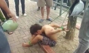 Hà Nội: Hình ảnh cậu bé bị trói chân tay vào gốc cây gây xôn xao