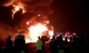 Xe container bốc cháy ngùn ngụt trên đường Hồ Chí Minh