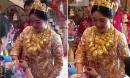 Cô dâu đeo cả yến vàng trong ngày cưới gây xôn xao mạng TQ