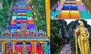 Vượt 272 bậc thang cầu vồng để đến ngôi đền cầu được ước thấy