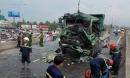 Tai nạn kinh hoàng giữa xe ben và xe tải trên cầu vượt An Sương