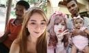 Cặp 'chồng xấu vợ hotgirl' công khai ảnh gia đình, nhìn mặt con gái mà sốc