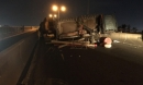 """Xe tải mất lái tại dốc cầu """"tử thần"""" ở Sài Gòn, nhiều người """"đứng tim"""""""