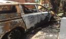 Quán cà phê ở Biên Hòa bị tấn công, một ô tô cháy rụi