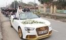 Đám cưới Phú Thọ 'gây sốt' với xe hoa Audi mạ vàng và dàn SH theo sau 'siêu khủng'